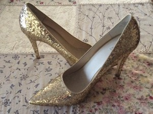 New Wittner Gold Sequinned Shoes.$10 found at Vinnies